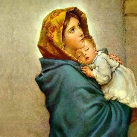 Lichtmeesteres Moeder Maria met Jezus op de arm