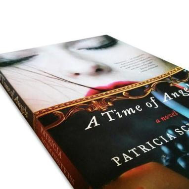 Cover detail of the novel, A Time of Angels