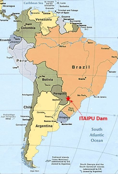 Parana River And Paraguay Map