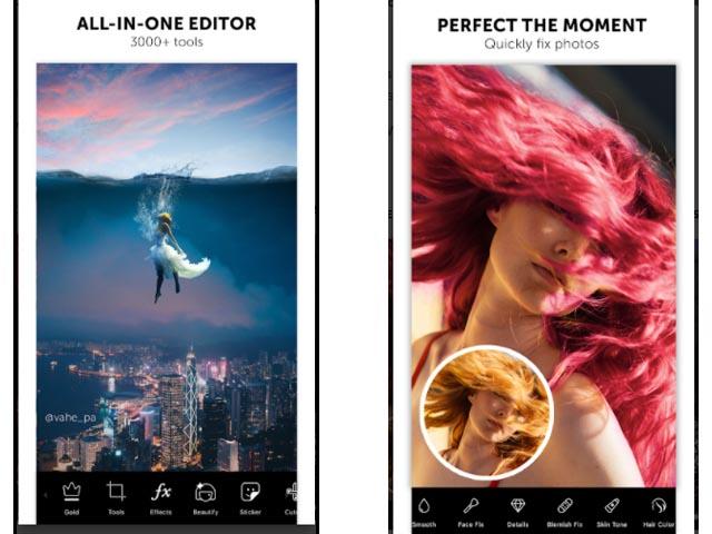 Perfect the Moment Picsart App Screenshot
