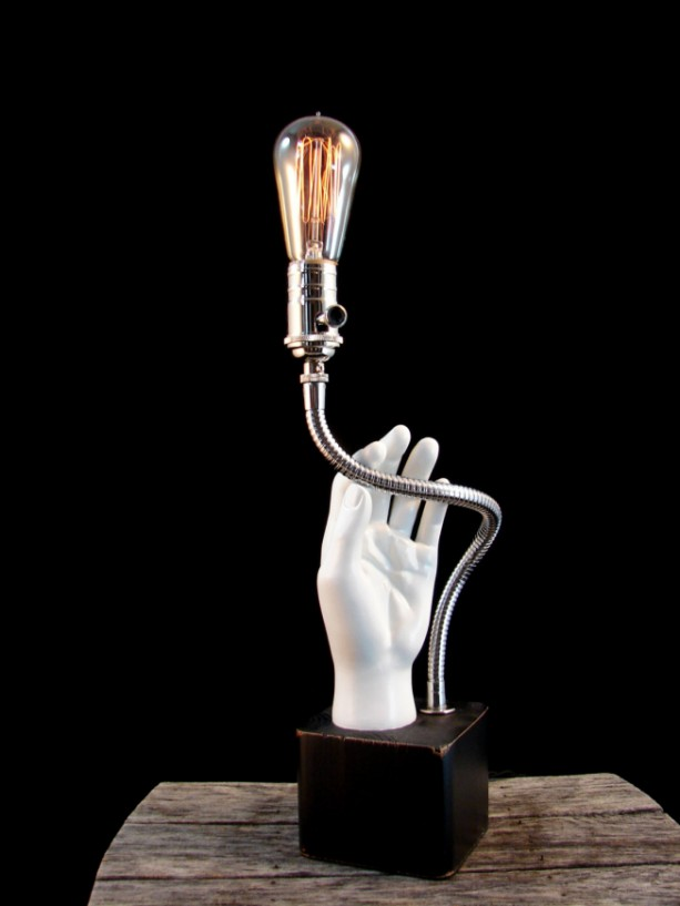 Lighting Table Lamp Upcycled Mannequin Hand Lamp Aftcra