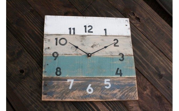 Pallet Wood Clock Beach House StyleReCycled Wood
