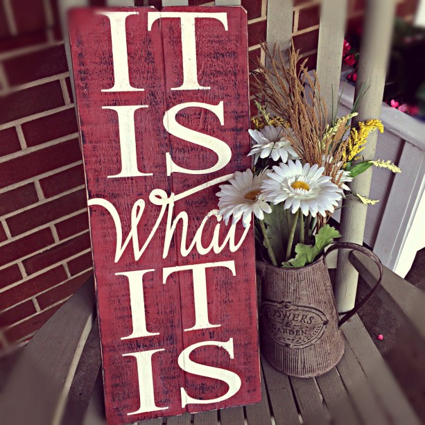 Large Wood Sign Home Hand Painted Inspirational Quote Wall