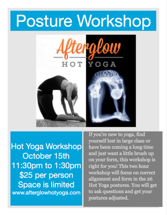 Yoga workshop starting from 15 Oct