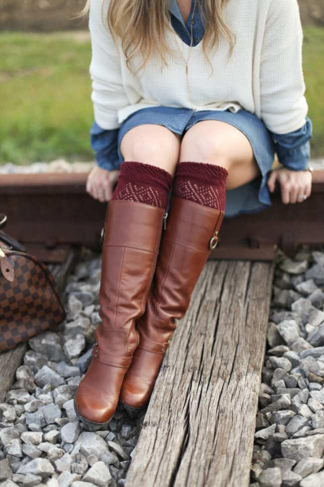 Fall Fashion - Fall Transition - Afternoon Espresso - Madewell Sweater - Blog- Fashion Blog - Target Shirtdress -Chambray