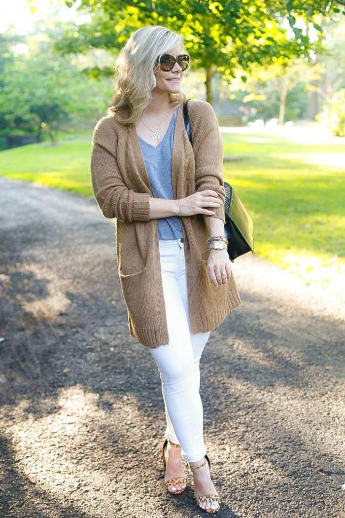 NSALE- Cozy Sweater - Fall wardrobe Transition - White Denim -7