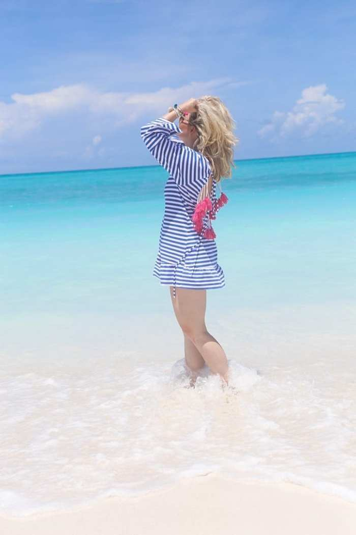 top beach cover ups -Sheinside-Blogger-Fashion-Bahamas-Travel-Beach Cover Up- Tassels-4