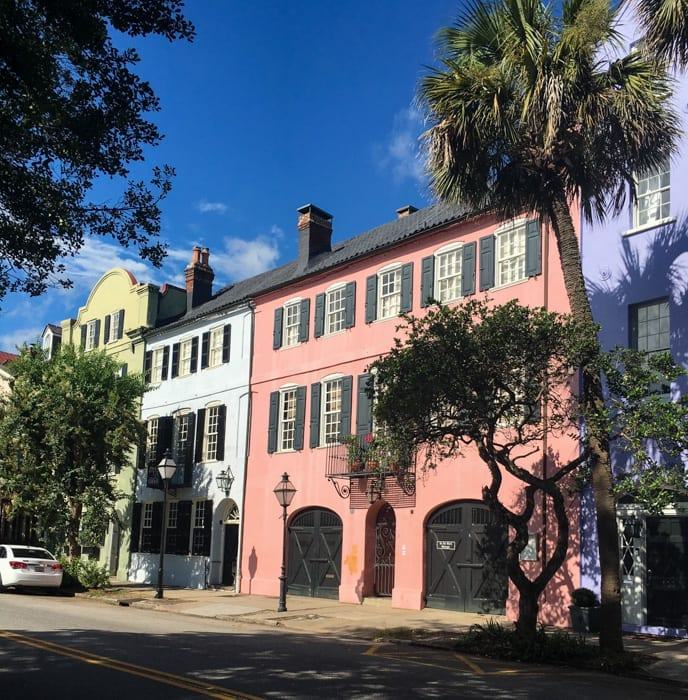 Blogger, Ashley Pletcher stopped by Rainbow Row to see these beautifully, pastel colored town homes in Charleston, SC