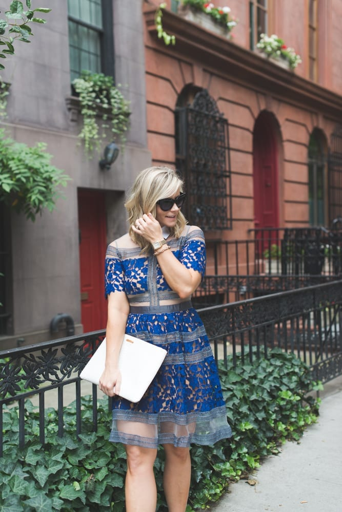 Blogger, Ashley Pletcher, shows us how to get the Self Portrait look for less with this beautiful lace dress!