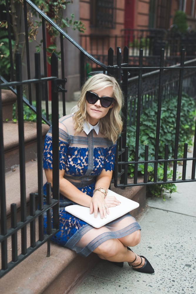 Blogger, Ashley Pletcher shares this Self Portrait look for less dress from Shein!