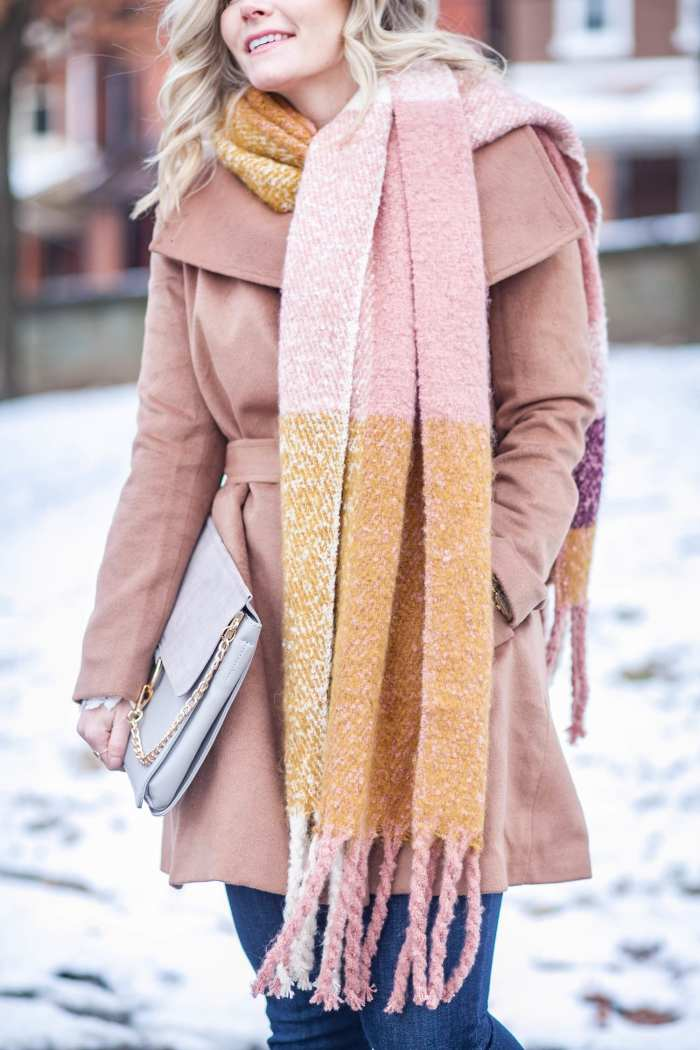 layering cozy coats and oversized scarves