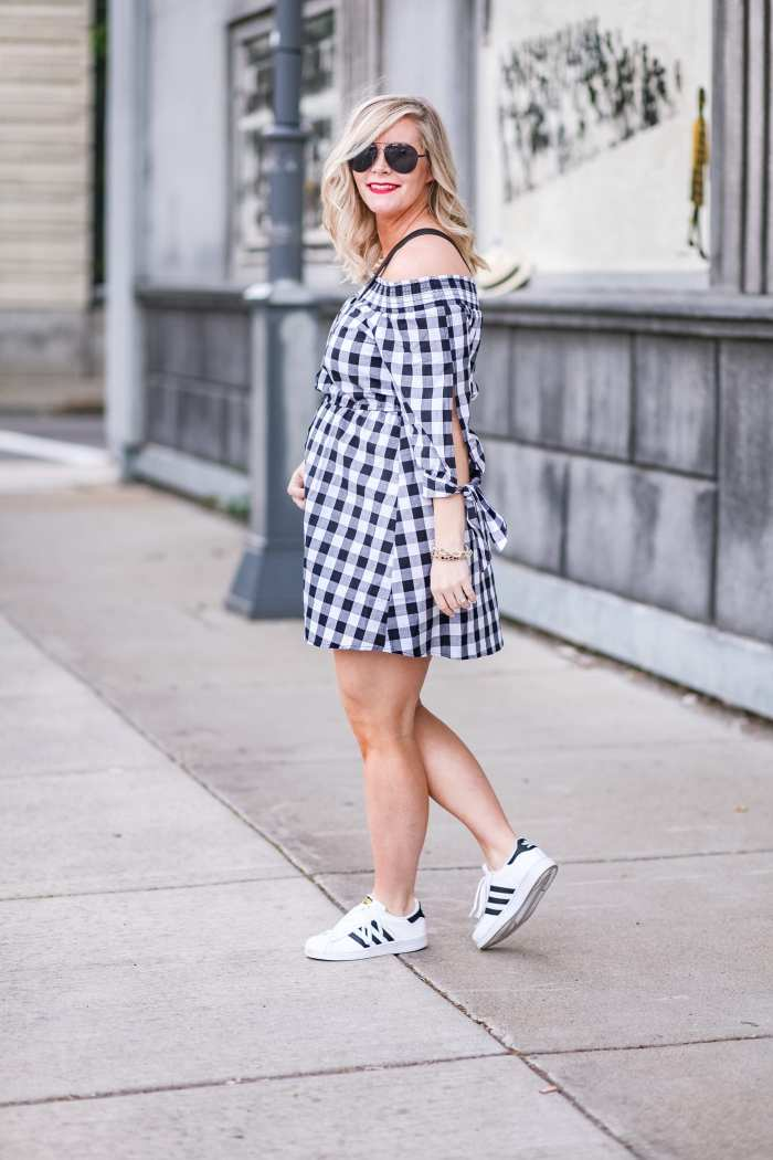 Nordstrom Anniversary Sale- Giveaway-Gingham Dress- Maternity Fashion- Blogger- Ashley Pletcher