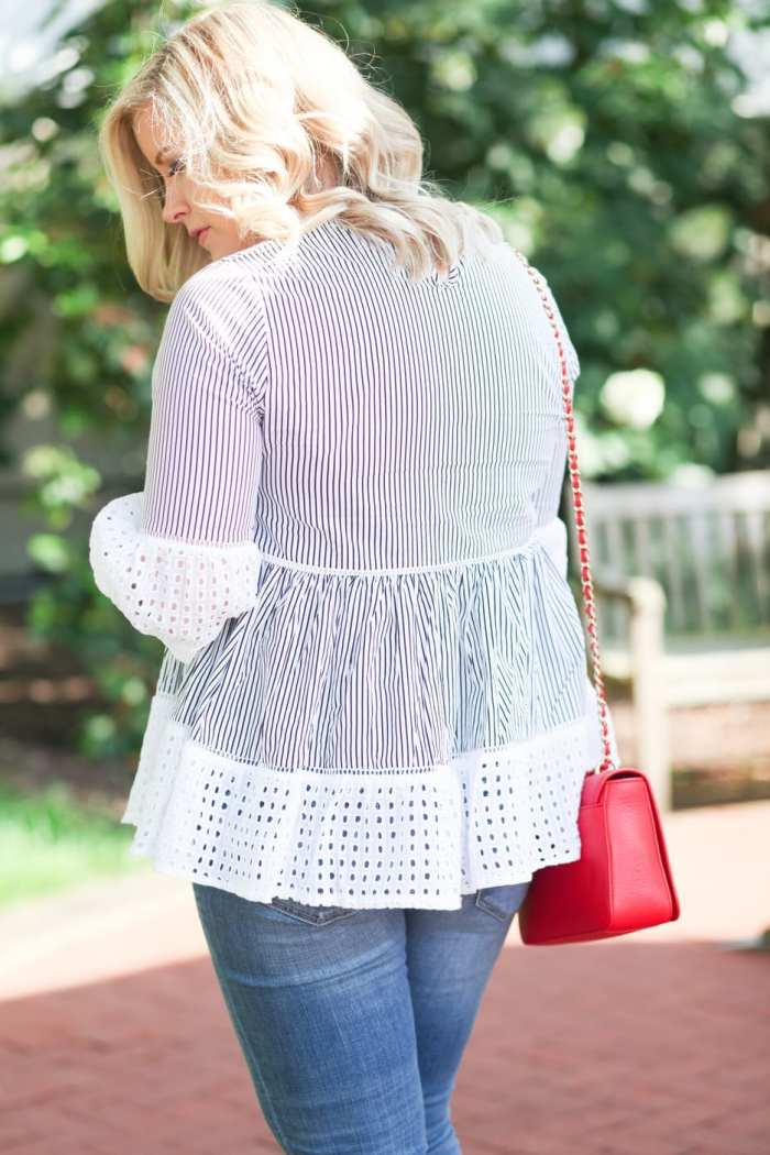Red White Blue Chicwish Blouse