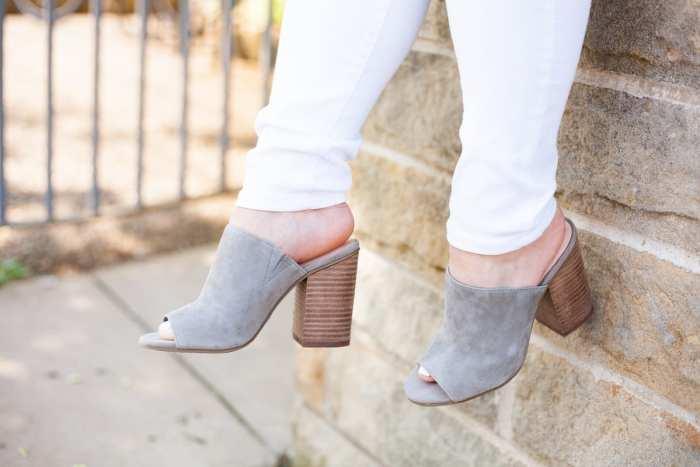 Nordstrom-Anniversary Sale-Blogger- Grey Mules- White Denim- Ashley Pletcher