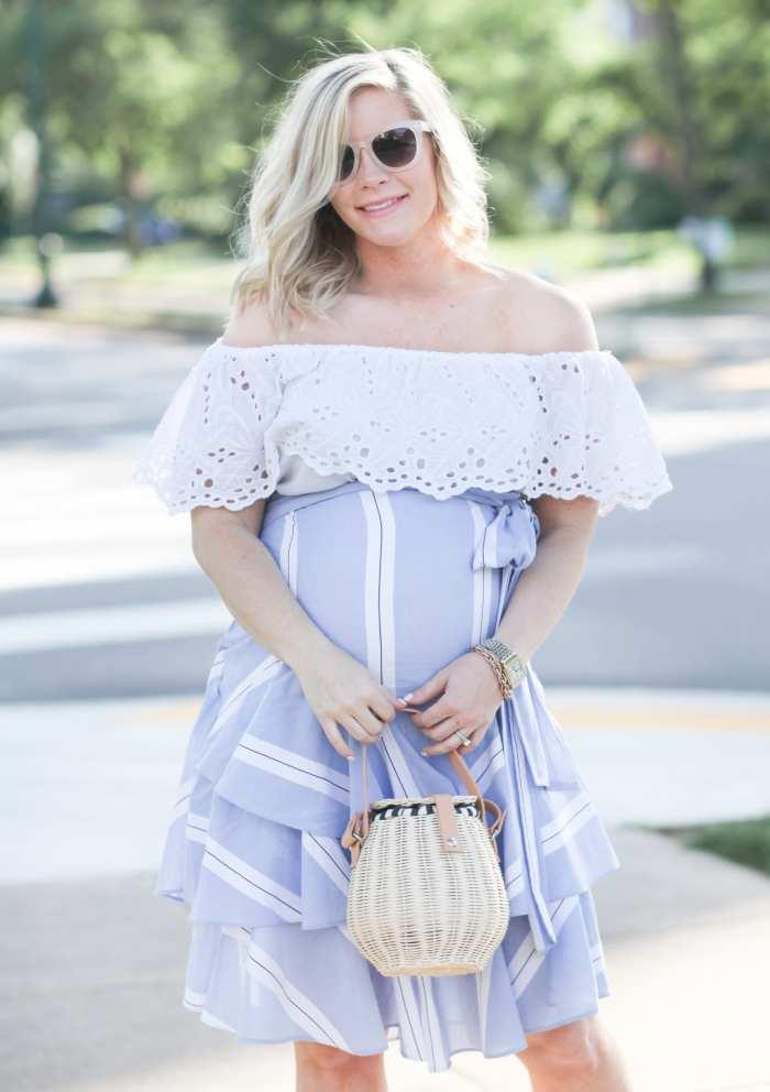 Ashley Pletcher - fashion blogger - maternity - maternity fashion - summer fashion - ruffle trends