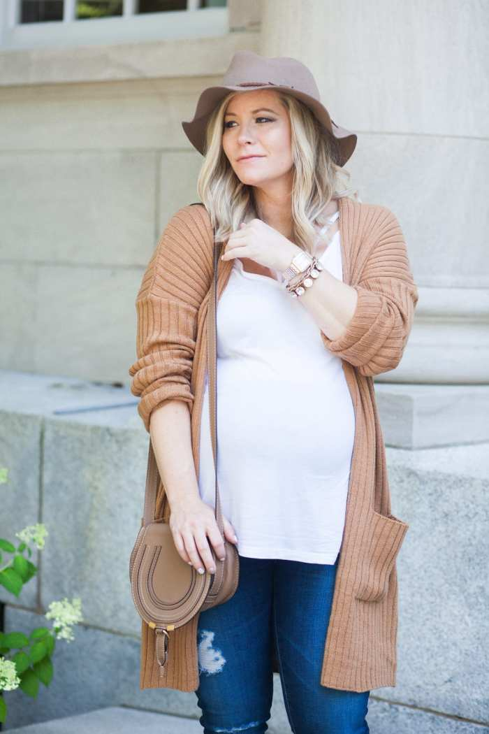 Ashley Pletcher - blogger- BP Cardigan - Nordstrom- Chloe Bag