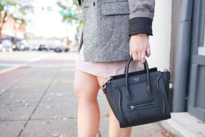 Blogger- Afternoon Espresso- Boyfriend Blazer-Celine Bag