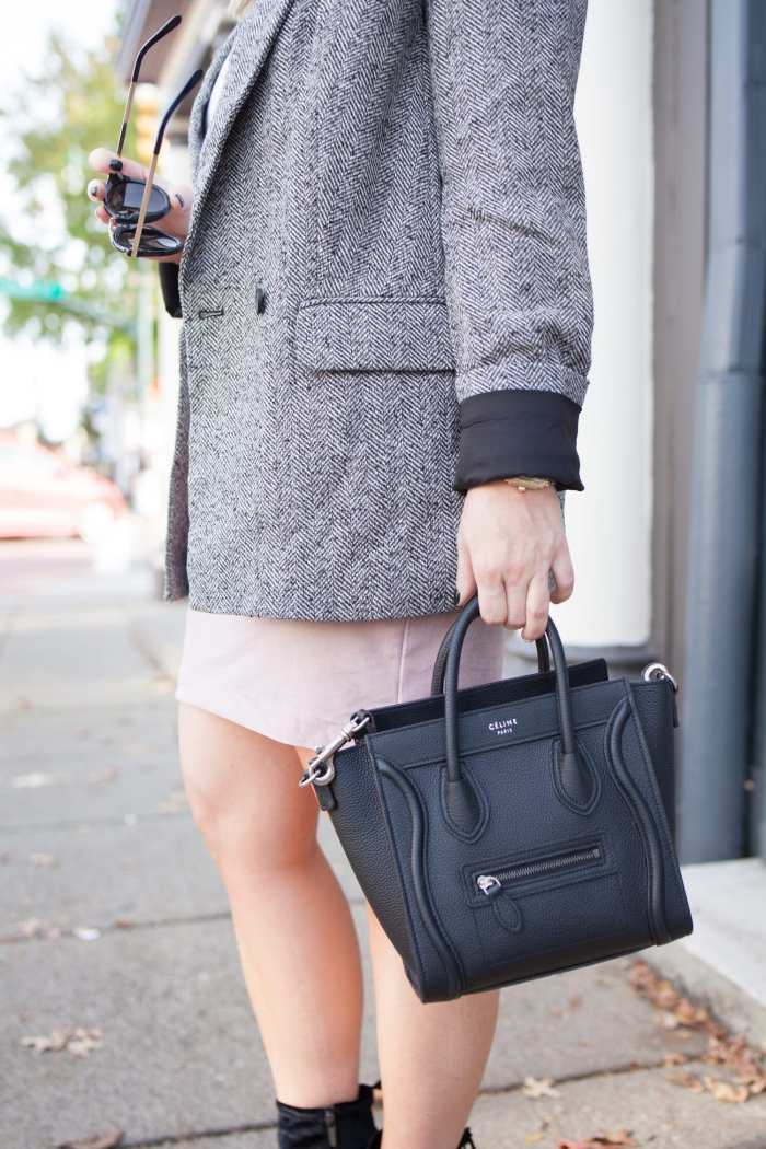 Celine Bag- Blogger- Afternoon Espresso- Express Boyfriend Blazer