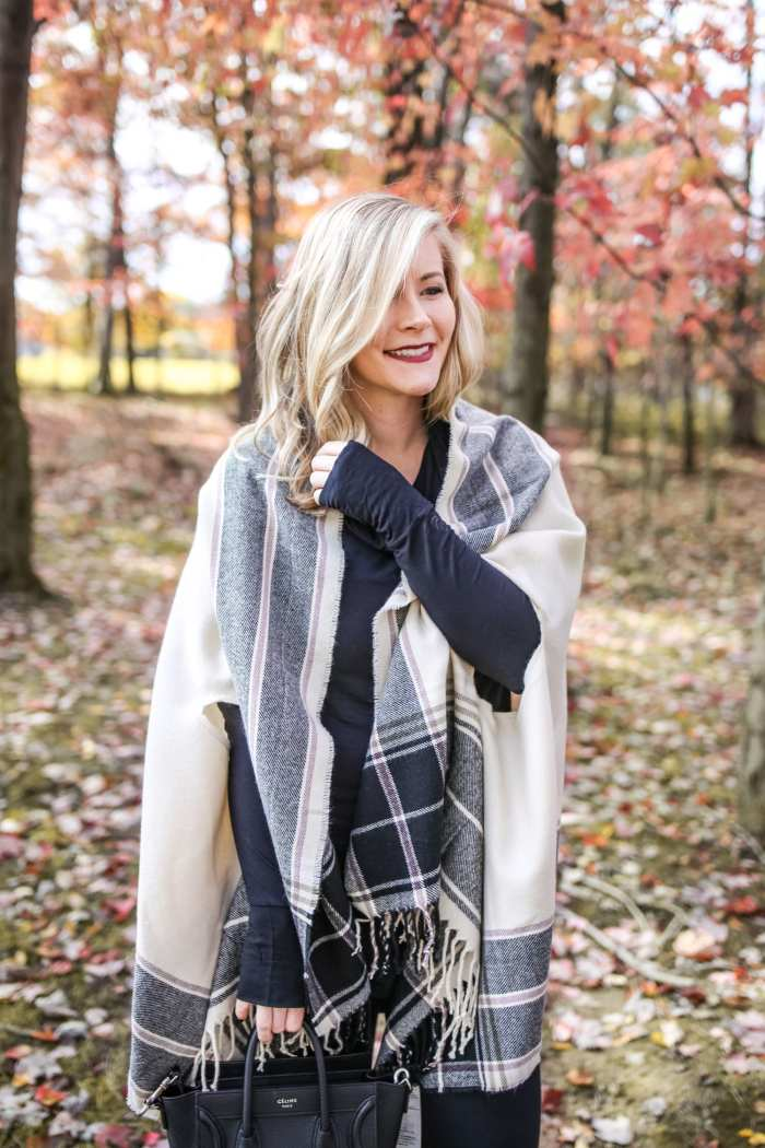 Layer- Cuddl Duds- Fall Fashion-Macys- Afternoon Espresso - Abercrombie & Fitch Poncho