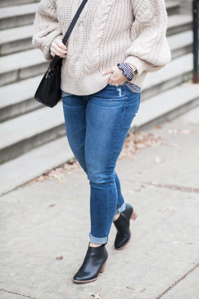 favorite sweater - H&M Sweater- Blogger- Fashion- Madewell Booties- AG Denim- Pittsburgh