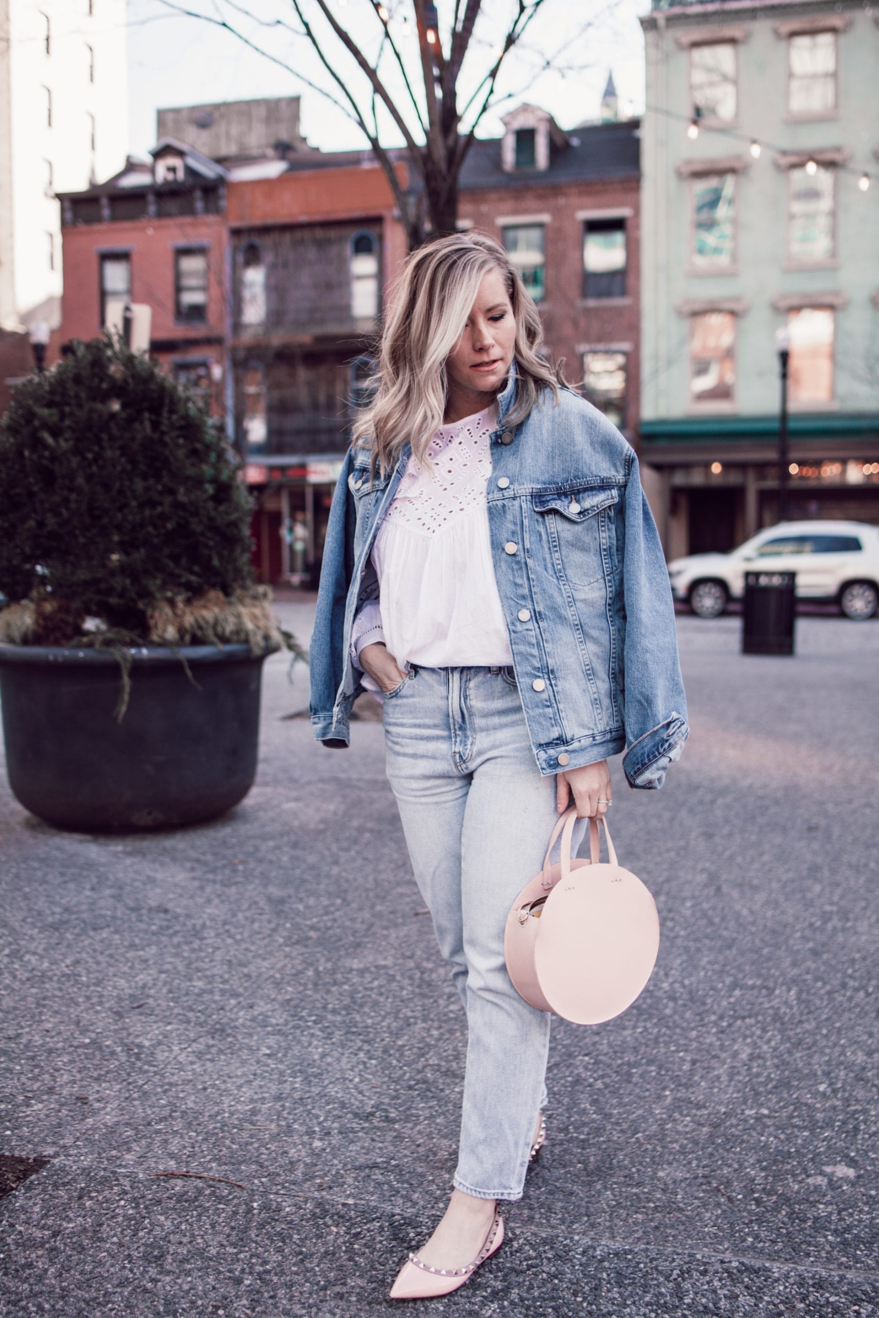 The Spring IT Bag:  Pink Circle Bag