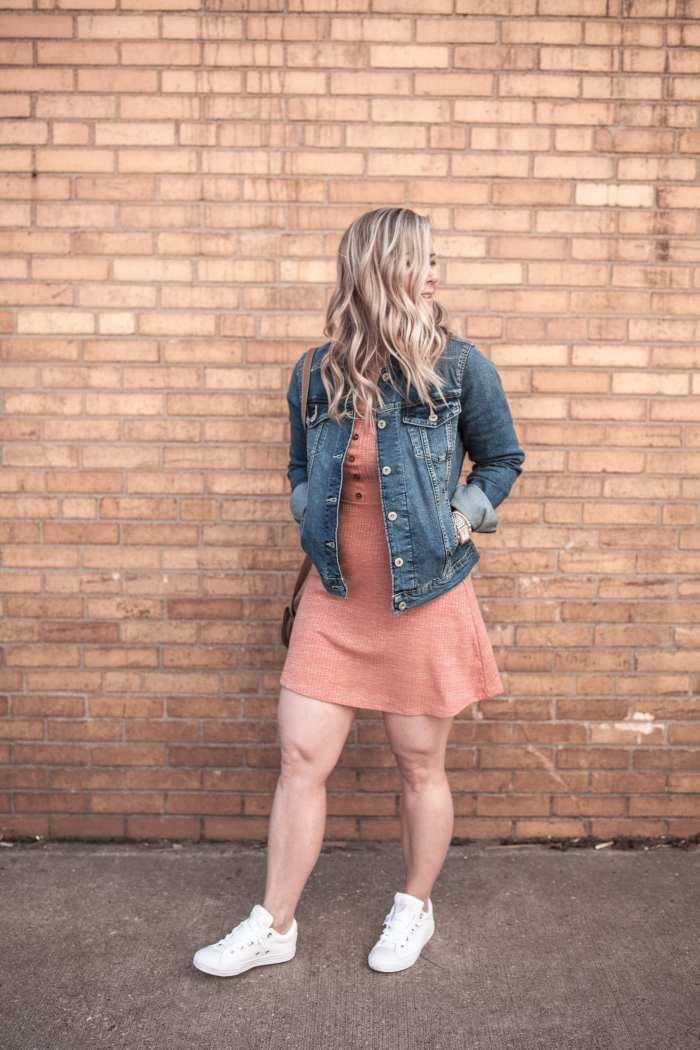 Levi's Denim Jacket - Spring Dress - Converse Sneakers