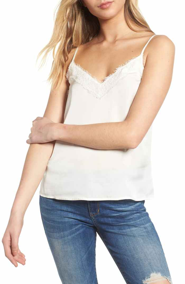 Lace Trim Satin Camisole Top - Nordstrom Anniversary Sale - Nordstrom Sale Under $50