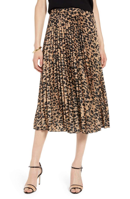 Leopard Skirt - Pleated Midi Skirt - Nordstrom Anniversary Sale
