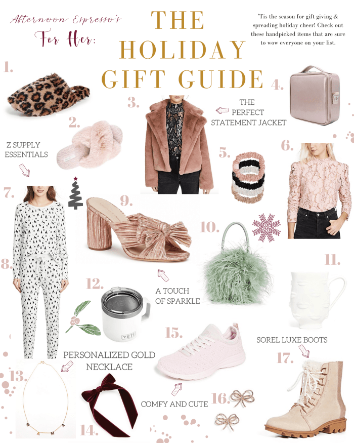 2019-Holiday Gift Guide For Her- Gift Ideas - Christmas- Holiday Gifting