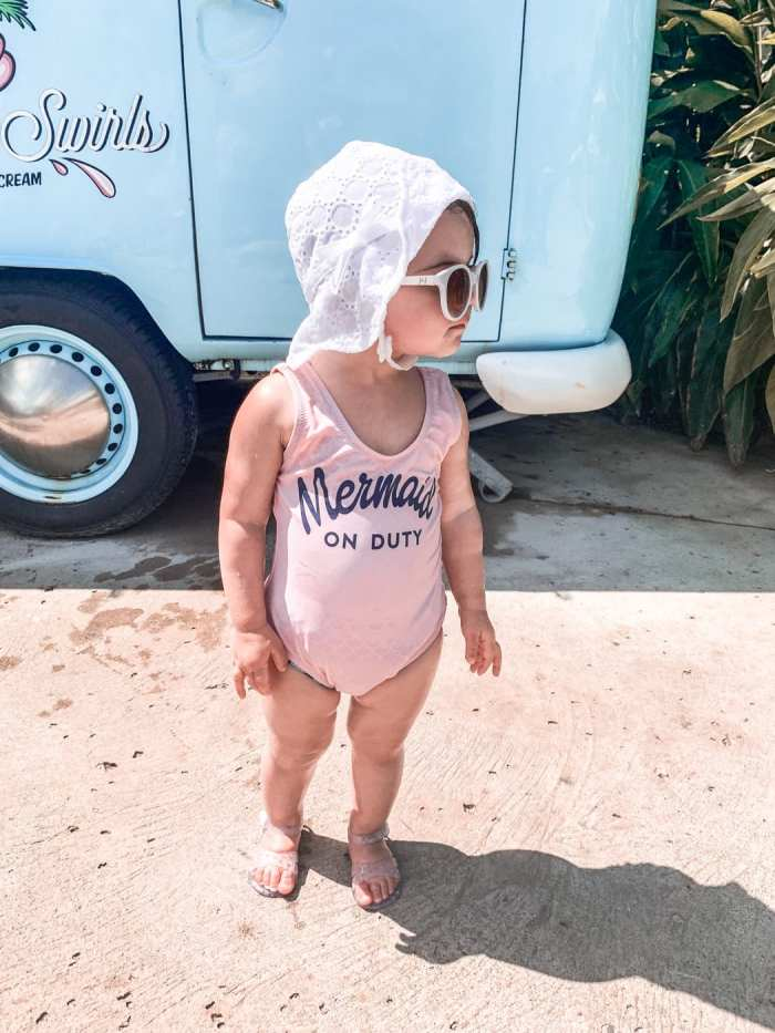 beat the winter blues- turks and caicos- winter vacation - children's swimsuit - shade critters