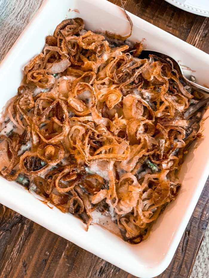 Tips for Hosting a Small Thanksgiving Dinner- Guy Fieri Green Bean Casserole- Homemade Recipe