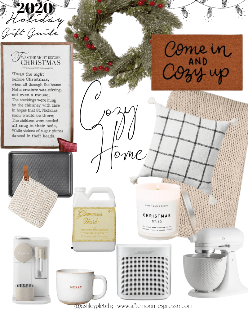 2020 Holiday Gift Guide For the Cozy Home