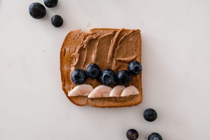 4 nutritious toast recipes - Arnold Bread - Almond Butter Blueberries and banana bread