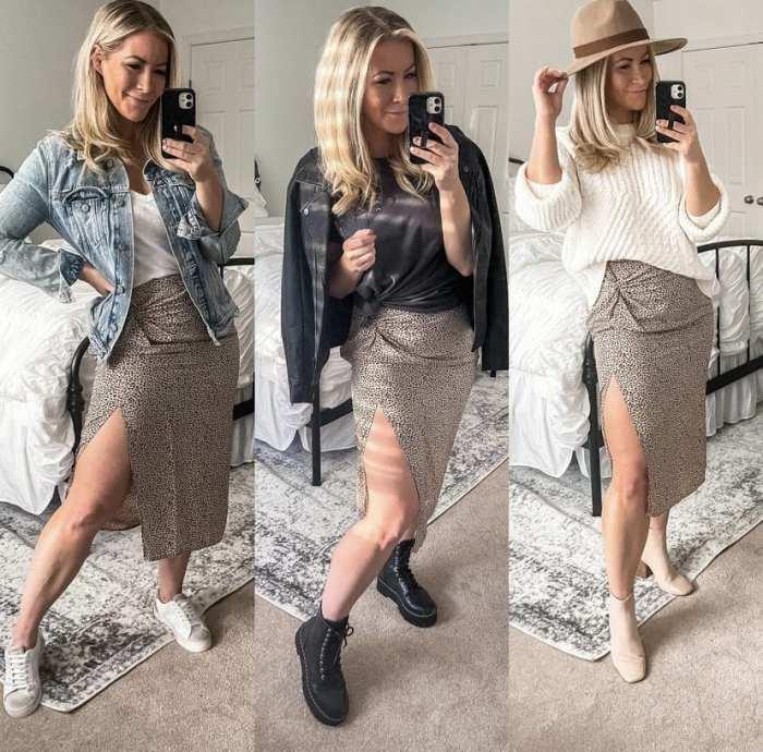 Leopard Midi Skirt - How to Style a leopard Midi skirt - Ashley Pletcher