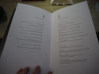 Carte des thés en Français - Hôtel Le Bristol Paris