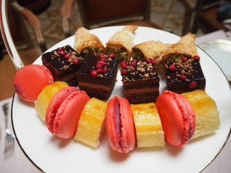 Gypsy's arm cake, Macaroons and Chocolate & cherry cake