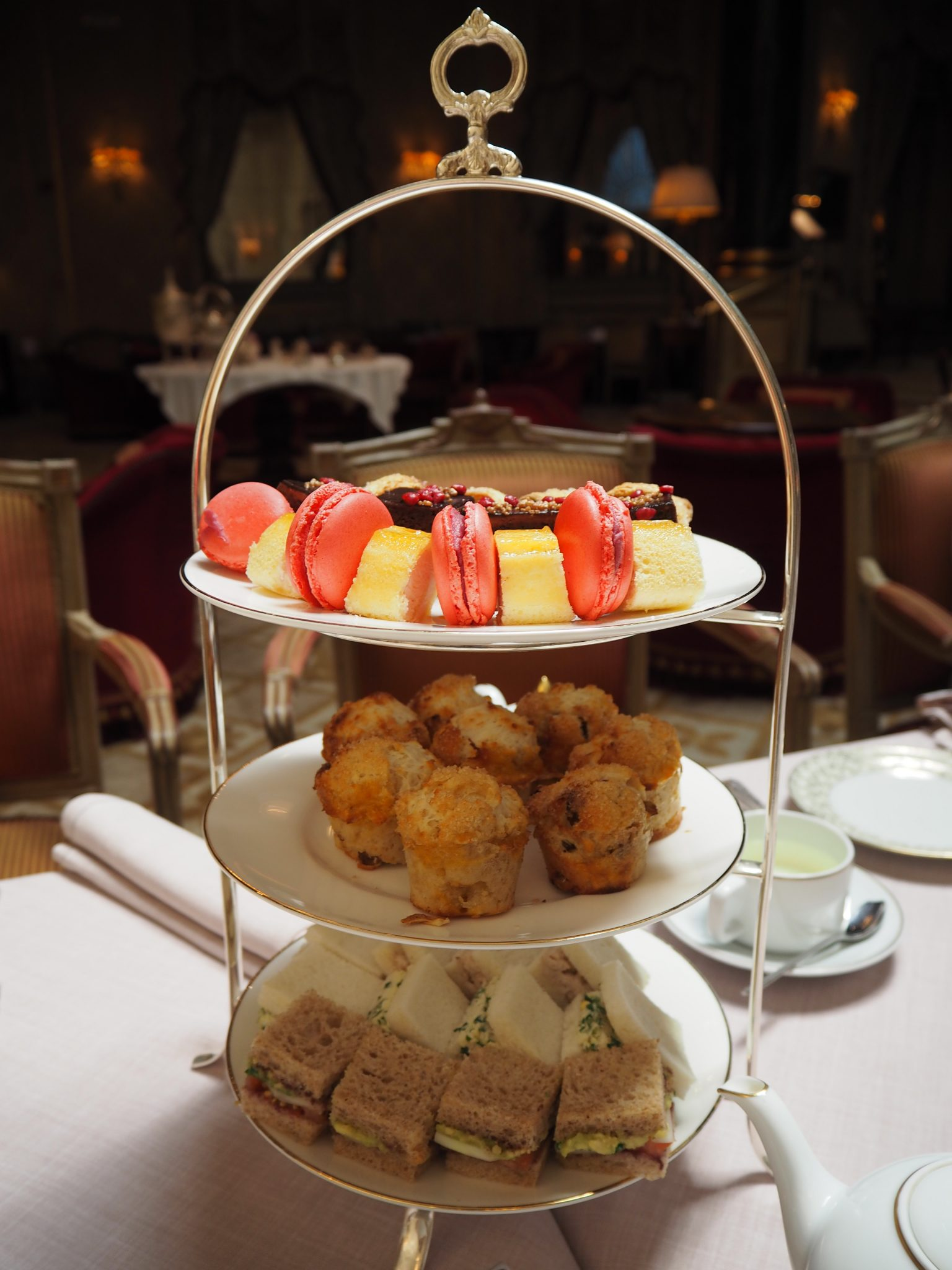 """Afternoon Tea stand (from the British """"Heritage Silverware"""" Collection)"""