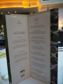Tea & Smoothies menu - The Westin Hotel Dublin