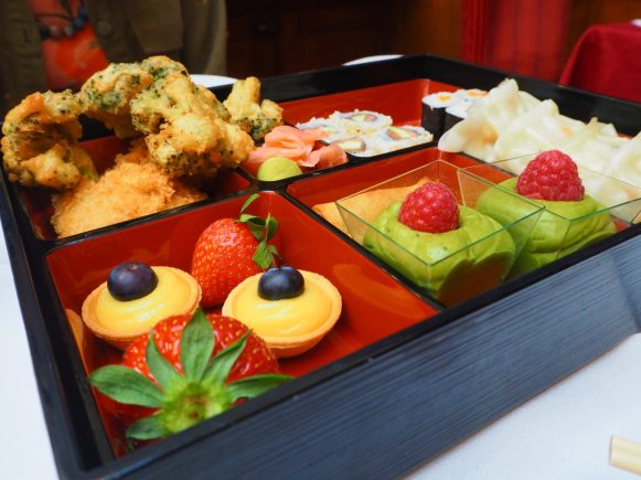 Japanese Afternoon Tea in a bentō box - The Courthouse Hotel London - Silk Restaurant