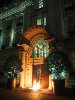 The Rosewood London courtyard (night)