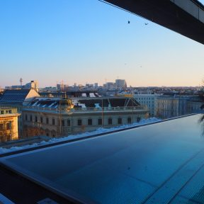 The view from Grand Étage Restaurant Terrace rooftop pool
