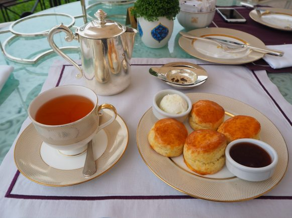 The Scones & Toppings with Black tea