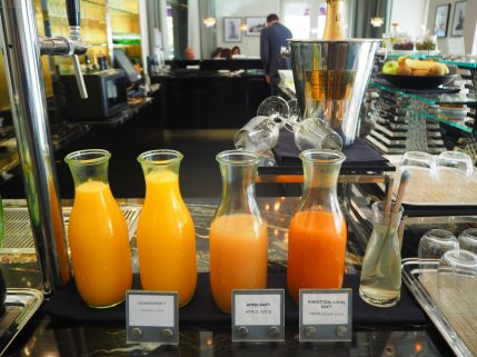 Freshly squeezed juices (orange; apple; carrot & apple)