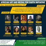 African Art and Media for Earth Initiative (AAMEI) Eco-Journalism Workshop 2017 for Young Nigerians