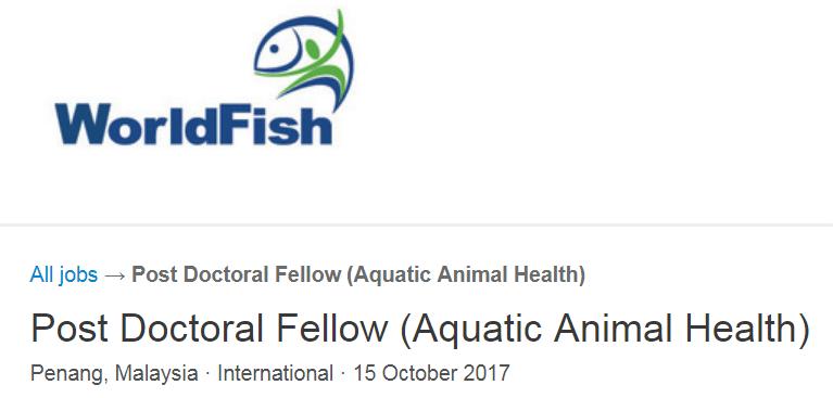 WorldFish Post Doctoral Fellowship for International