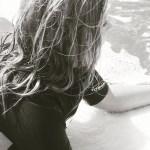 Little girls surfing