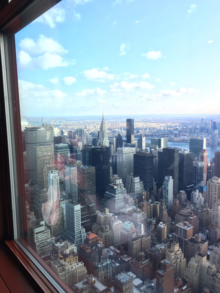 Things to do in New York with teens at Christmas view from top of Empire State Building
