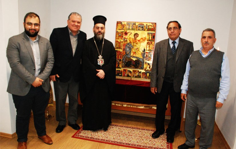 Προσκύνημα επαναπατρισθείσας εικόνας Αγίου Γεωργίου Καραβά