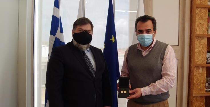 Θέματα τοπικής αυτοδιοίκησης και πανδημία συζήτησαν Δήμαρχος Λευκωσίας - Πρέσβης της Σερβίας