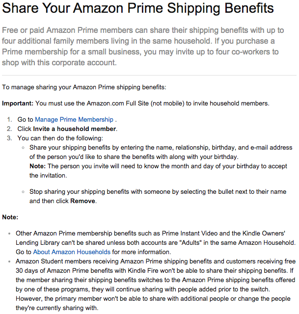 Amazon Changes Prime Sharing Allowance From Four People To Just